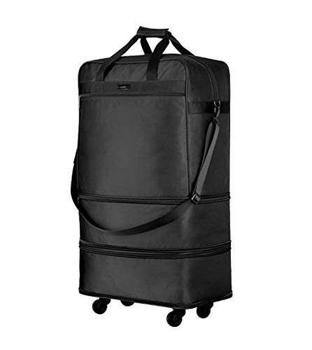 Hanke Expandable Foldable Suitcase Luggage Rolling Travel Bag Duffel Garment Tote Bag for Men Women by Hanke (Image #10)