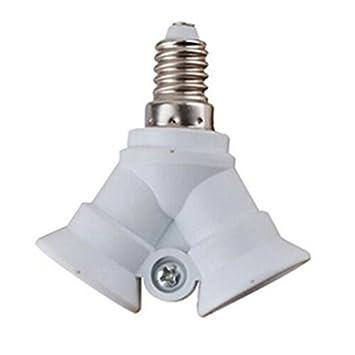 2x E27 Lampenfassung Adapter Fassung Konverter Sockel 3 und 4 Splitter