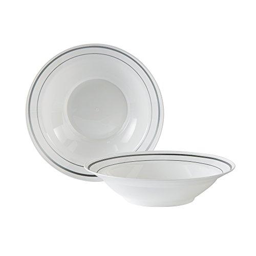 WNA MPBWL10WSLVAM Masterpiece 15 Count Plastic Bowls, 10 oz, White