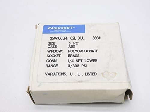 Ashcroft 35W1005PH02LXUL-300# 0//300PSI NSMP