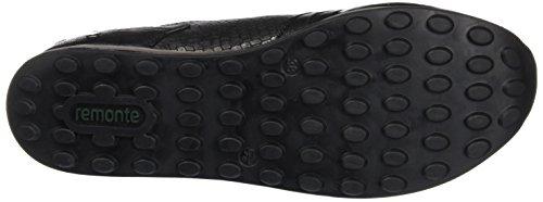 Femme schwarz granit Baskets 45 D1807 schwarz schwarz Noir Remonte Basses qtSwPx0