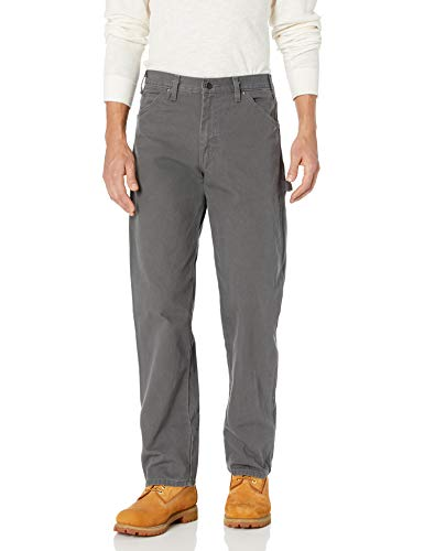 Dickies Men's Relaxed Fit Straight-Leg Duck Carpenter Jean, Slate, 36W x 34L (Dickies Relaxed Fit Work Pants)