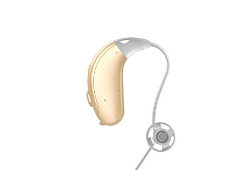 Jungle Care Chime 21 Left Ear Hearing Amplifier Digital Personal Sound Amplification Product (PSAP) FDA Approved to Aid Hearing with Volume Control and Push Button, Beige
