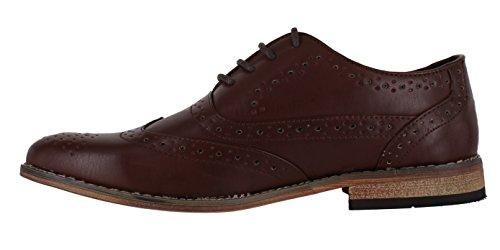 o eleganti scozzesi lacci Scarpe Smooth da classiche in informali finto Brown uomo con camoscio aUcv1HcwWq