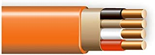 product image for Cerrowire 147-1803BR 50-Feet 10/3 NM-B Solid with Ground Wire, Orange