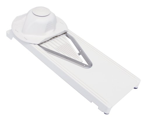 Unves Vegetable Mandoline Slicer Double-edged V Slicer, White