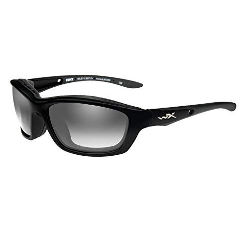 Wiley X Brick Sunglasses, Metallic Black Frame, Photochromic Smoke Grey ()