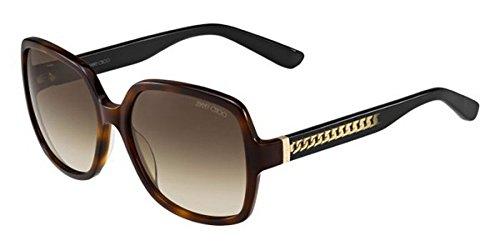 Jimmy Choo Sunglasses Patty 112 JD Havana Shaded Brown - Choo Case Jimmy Sunglass
