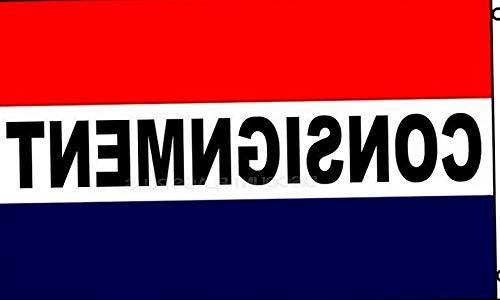 Mikash 3x5 Advertising Consignment Red White Blue Flag 3x5 Banner Brass Grommets | Model FLG - 3009 -