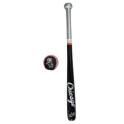 Franklin Sports MLB Chicago White Sox Team 25-Inch Wood Bat and Ball Set by Franklin Sports