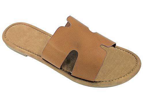 TravelNut Best Fancy Idea Swedish Greek Sandal Shoe for Women Teen Girls (Tan Size 10)