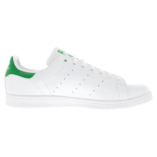 adidas Originals Men's Stan Smith Leather Sneaker, Footwear White/Core White/Green, 11