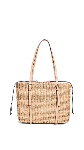Frances Valentine Women's Large Tote Bag, Natural/Natural, Tan, One Size ()