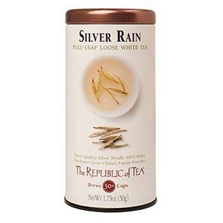 (The Republic of Tea Silver Rain Full-Leaf White Tea, 1.75 Ounces / 50-60 Cups (Refill)