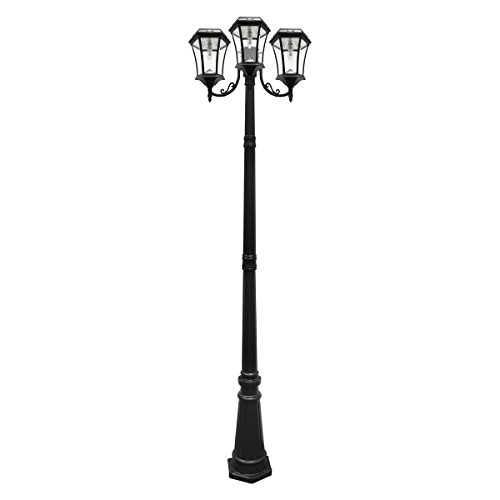 Three Light Outdoor Post Lamp in US - 8