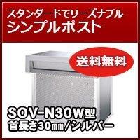 三協立山アルミ 埋め込み郵便ポストポスト 口金ポスト SOV-N30W型(2ブロックタイプ) シルバー RSI ポスト本体 B01FEW3LP4 26422