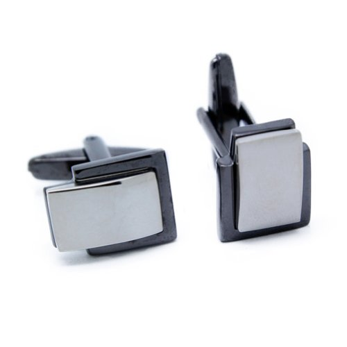 (Digabi Men's Jewelry Alloy Wedding Business Suit Cufflinks Cuff Links Black Color)