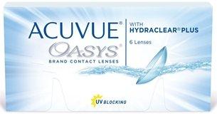 Acuvue Oasys Kontaktlinsen, Packung mit 6 Monatslinsen, freie Stärkewahl (BC-Wert: 8.40 / Dia: 14.00)
