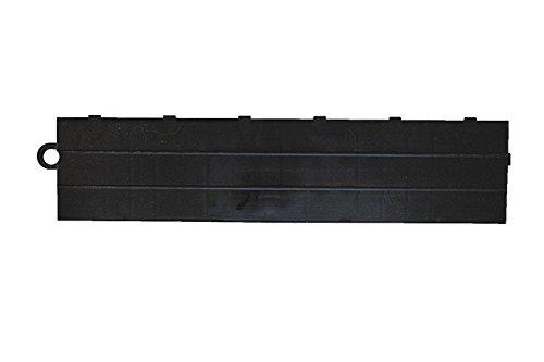 Speedway Garage Tile M789453B Garage Floor Male Ramp Edges without Loops, Black - Edge Ramp