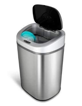 NINE_STARS Infrared Motion Sensor Trash Can 21 Gal. with Auto-Open Function by Ninestars