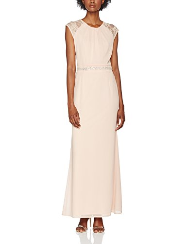 Lace Ryan Nude Low Nude Back Elise Kleid Damen Maxi with Pink Round qXPdPxR