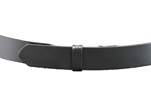 """No Scratch Buckle Belt (The Original Mechanics Belt, No Scratch, Hidden Buckle, 1.5"""", Plain Black, 34)"""