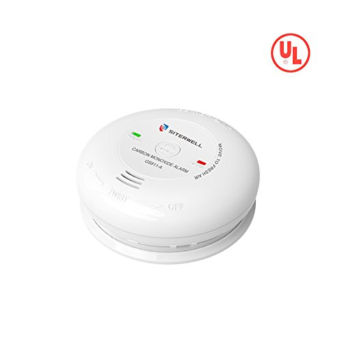 SITERWELL Carbon Monoxide Detector Battery Powered CO Alarm with UL Listed,Test/Reset Button,Electrochemical Sensor, Battery included (GS811-A)