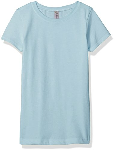 Clementine Apparel Girls' Little Everyday T-Shirt, Ice Light Blue, L