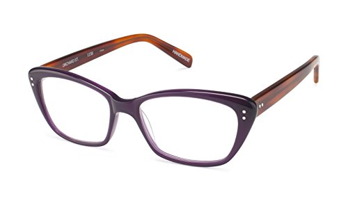 Orchard Street - Angular Trendy Fashion Reading Glasses for Men and Women - Purple/Blonde (+1.00 Magnification Power) (Street Scojo Reading Glasses)