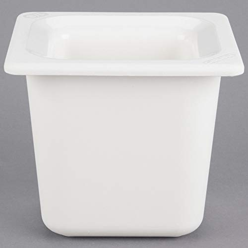 TableTop King CM110402 Coldmaster 1/6 Size White Cold Food Pan - 6