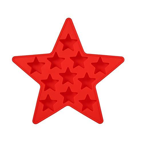 Fdit Bandeja de Cubitos de Hielo Cinco Estrellas Molde de Hielo de Silicona Herramientas para Hacer Pasteles Caseros Dulces...