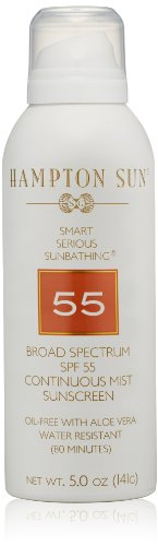 Hampton Sun SPF 55 Continuous Mist Sunscreen, 5 (Continuous Sunscreen Mist)