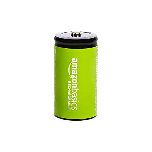 AmazonBasics C Cell Rechargeable Batteries (5000mAh Ni-MH) - Pack of 4