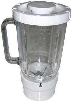 Licuadora de cristal 1.2 L base blanca referencia: A994 para Kenwood