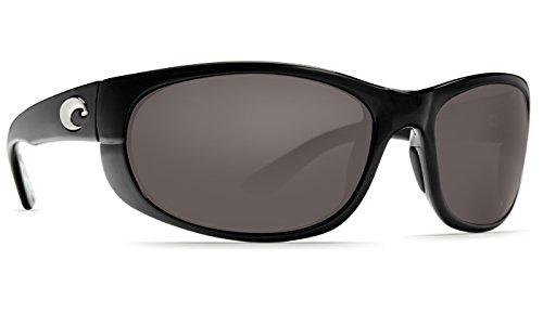 Costa Del Mar Howler C-Mate 2.50 Sunglasses, Shiny Black, Gray 580P ()