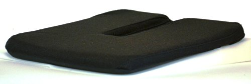 e Bottom Cushion Seat Support Coccyx Tailbone Cutout and Extra Padding, 15-Inch Wide, Black ()