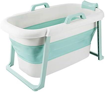 バスタブ折り畳み式の入浴バレル大人のバスタブ浴室コーナー自立型ポータブルシャワーバケツ大厚いプラスチック頑丈プールタブ (Color : Blue)