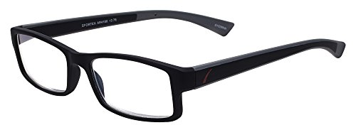 Sportex Readers Rectangular Men's Reading Glasses Plastic Frame, Gray, 1.50 from Select-A-Vision