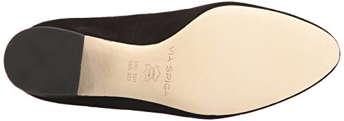 Via Spiga Women's Adonna Mary Jane Pump Black Suede xnbMNJu