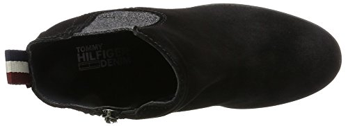 Tommy Jeans Damen B1385oo 1b Chelsea Boots Schwarz (Black)