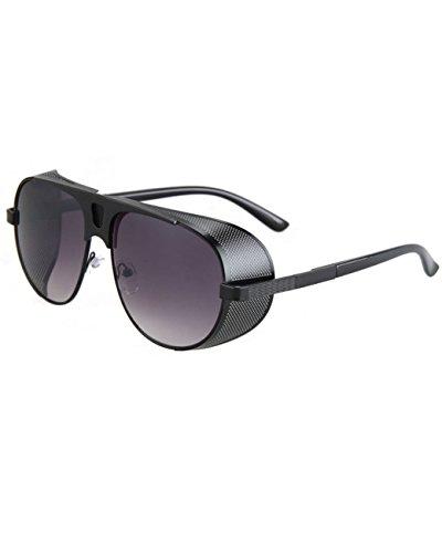 [Konalla Retro Metal Goggles Full Frame Steampunk Reflectived Lens Sunglasses C3] (80s Metal Costumes)