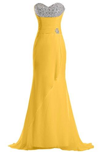 da Sunvary della Chiffon lunghe d'onore linea Sweetheart vestito Gold damigella feste per 674Ywq7S