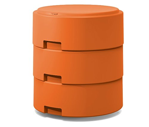 Smith System Orange Oodle Stool w/One Movement Disc w/ Felt Pad Adjustable Height Classroom Active Seating for Kids, Teens and Teachers by Smith System