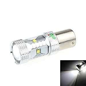 LED 1156 30W 6-LED 2500LM 6500K luz blanca para el coche marcha atrás Luz (DC 9-24V)