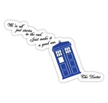 ROD Design Magnet We're All Just Stories in The End 4x4 Doctor Who Dr Who Magnet Vinyl Magnetic Sheet for Lockers, Cars, Signs, Refrigerator 5