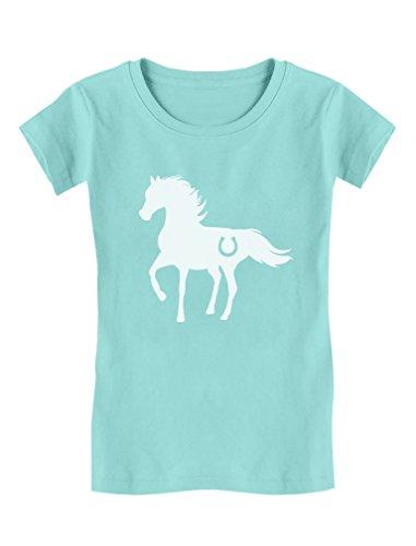 Tstars Gift for Horse Lover - Love Horses Girls' Fitted Kids T-Shirt M (7/8) Chill (Girls Fine Fit Tee)