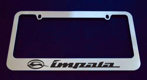 Chrome Impala License Plate Frame (plastic)