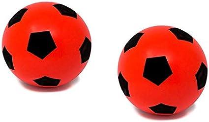 E-Deals - Juego de 2 Pelotas de fútbol de Espuma Suave de 20 cm ...