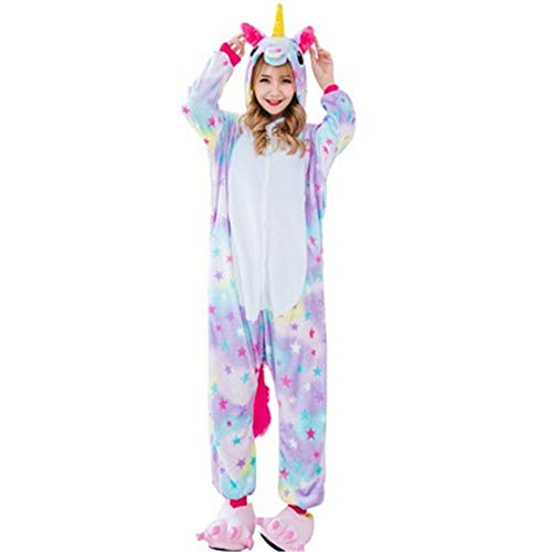 Fashion Adult Unicorn Animal Onesie Costume Pajamas for Adults and Teens(A-M) -