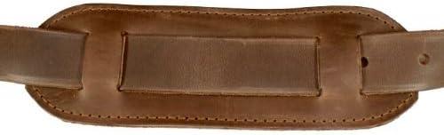 DELARA Leather Care DELARA Real Saddle Leather Giant Briefcase with Shoulder Strap and Shoulder Pad incl